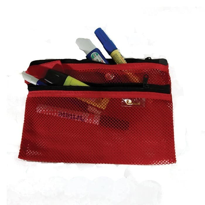Net Wallet With Two Zippers 15 X 26 cm - 5153