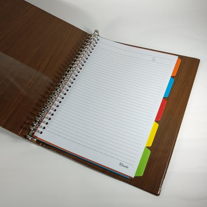 Bambi File Note 2520 A5 Cream Wood