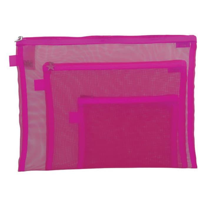 Bambi 7126-91 Mesh pouch - Pink