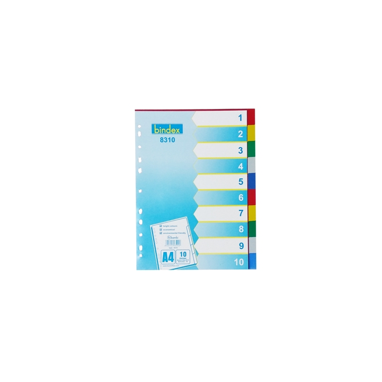 8310 - Bindex Colour Divider 10 Divisions A4