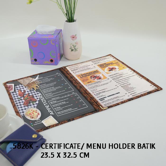 Certificate / Menu Holder Batik 5826K